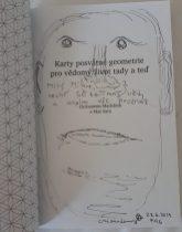 Věnování do knížky Karty posvátné geometrie pro vědomý život tady a teď, Chrisantem Macháček