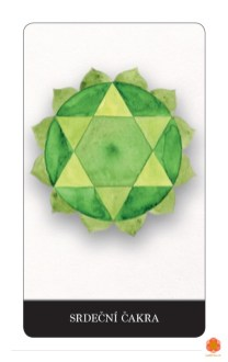Chrisantem Macháček a Mae Sara: Karty posvátné geometrie pro vědomý život tady a teď, Srdeční čakra