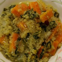 Quinoa con bietola e carote