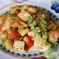 Tofu con zucchine alla menta