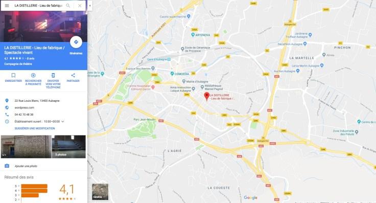 map La Distillerie