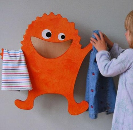 cute-and-funny-little-laundry-monster-clothes-hanger-for-morning-bedroom-and-bathroom