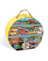 Puzzle w walizce Pojazdy Janod