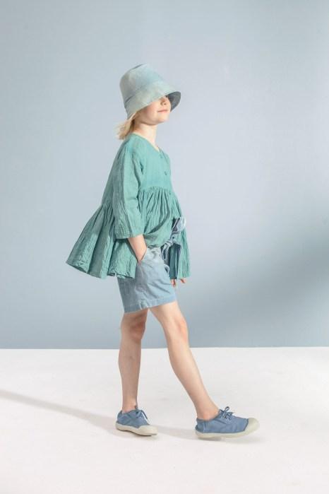 emerald yoke blouse_denim bow shorts (2)