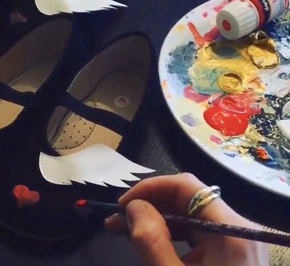 hand painted ballerinas