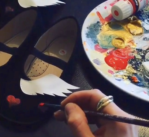 hand painted ballerinas