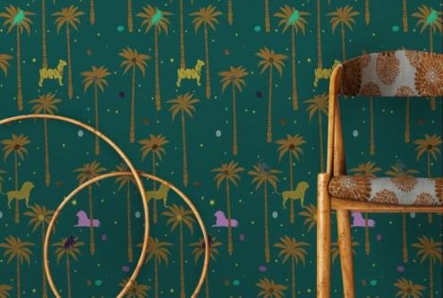 Mock up poster, hipster concept interior, 3d render