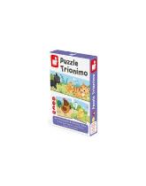 Zwierzątka i ich dzieci tekturowe puzzle