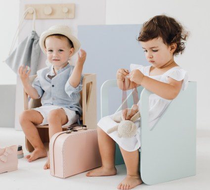 krzesełka dla dzieci drewniane