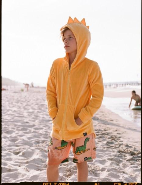 dino velvet yellow