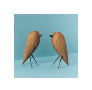 dębowa figurka ptak