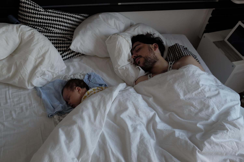 spanie z dziećmi
