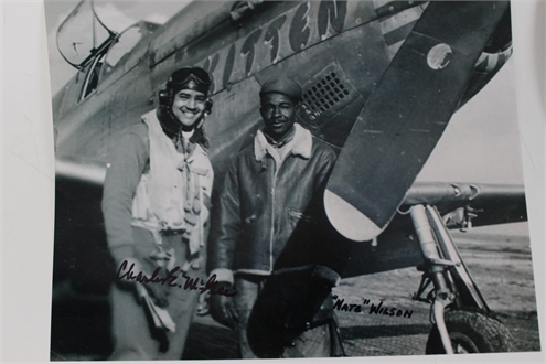pilot Charles McGee and Nate Wilson
