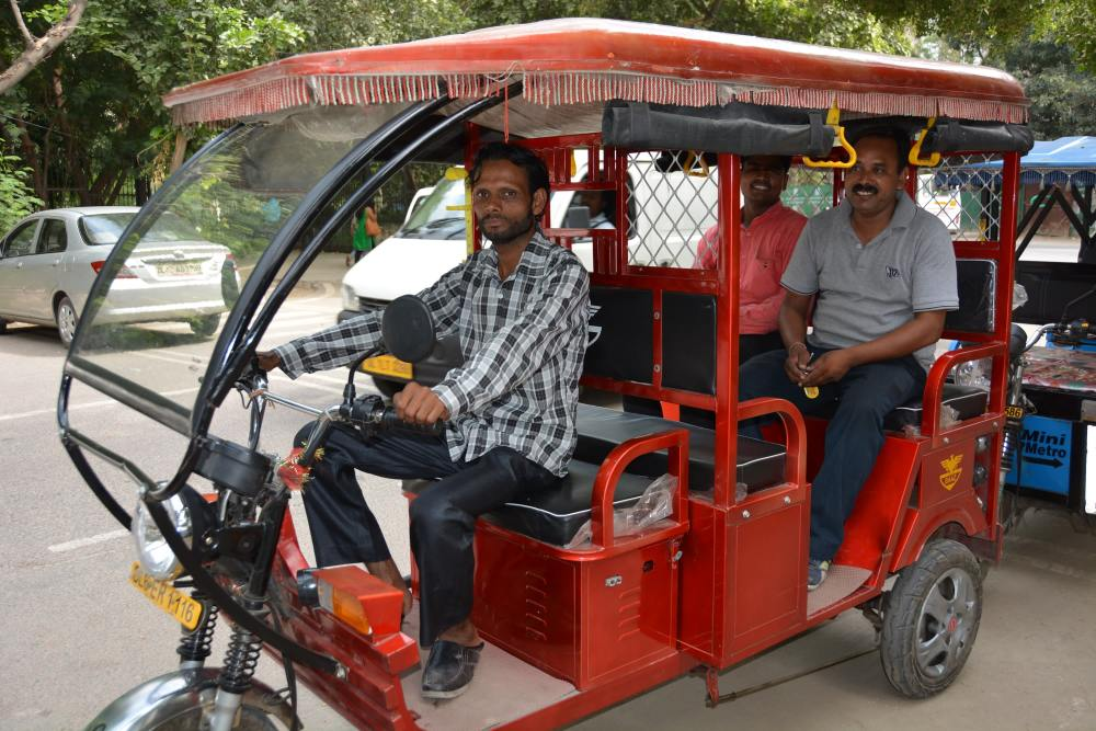 Eletric rickshaw in India