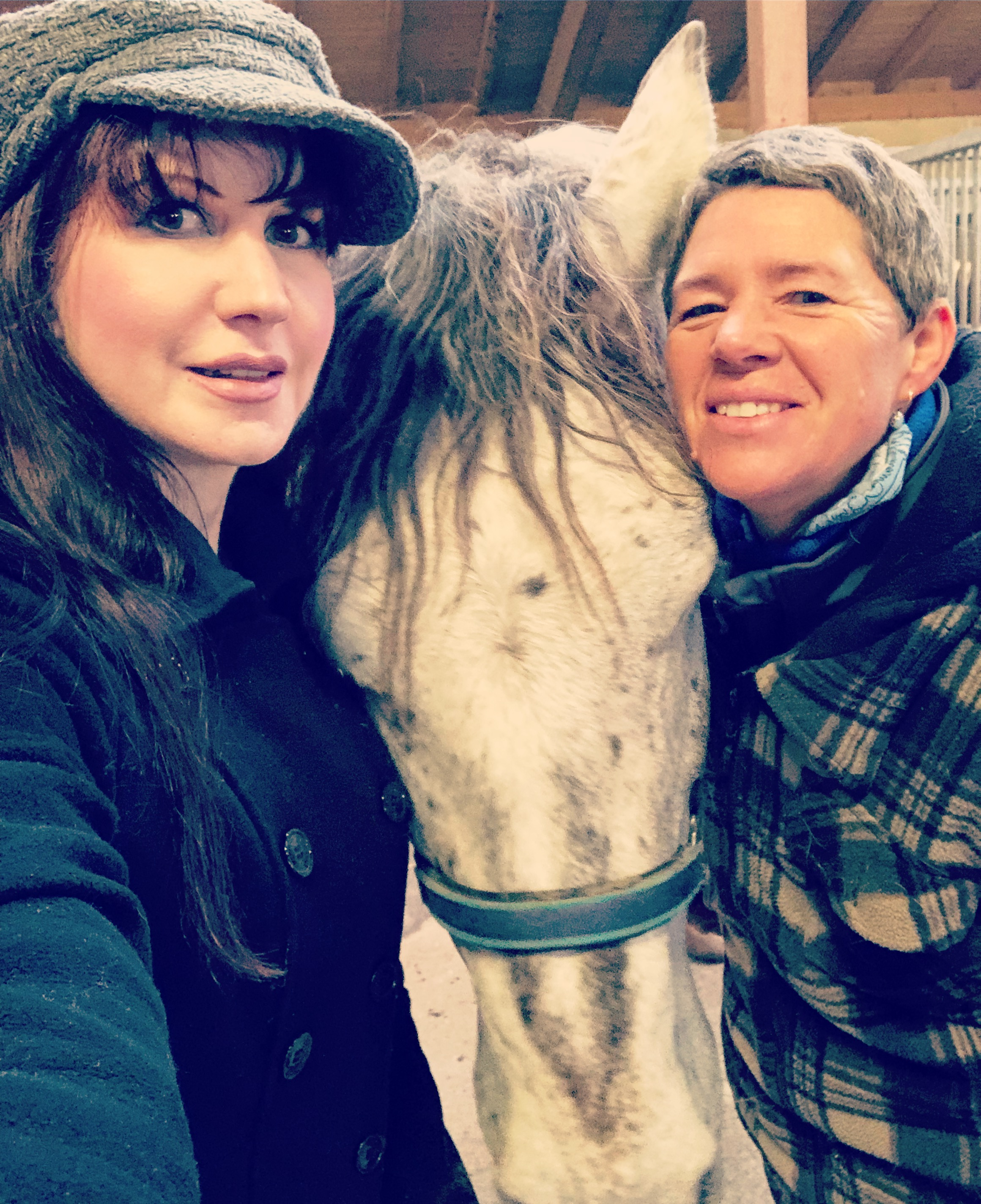 With my guide, Katia and her horse Tanya