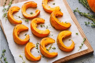 roasted pumpkins with thyme