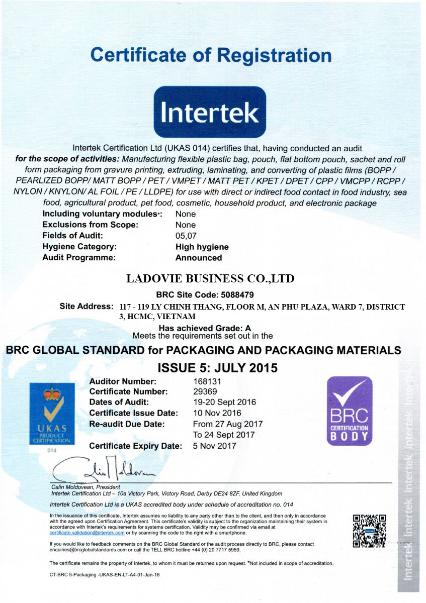 INTERTEK OF ZIPPER MANUFACTURER