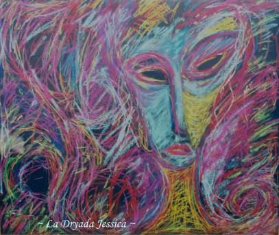 ~Belzanthus~Pastel sur papier50/60cm 2008