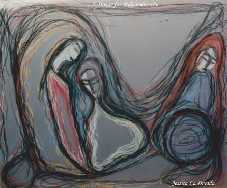 ~ A Dream for Melpomelantha ~ Pastel sur papier 50/60cm ~2009 ~