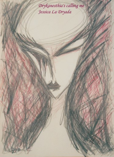 ~ Drykanesthia's calling me ~ Crayon sur papier 29,7/42cm ~ 2010 ~