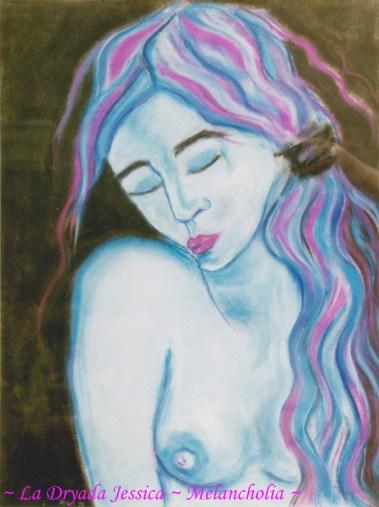 ~ Melancholia ~ Pastel sur papier 29,7 / 42cm ~ 1998 ~