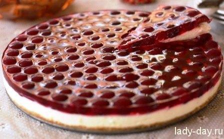 Вишневый торт без выпечки | Простые рецепты с фото