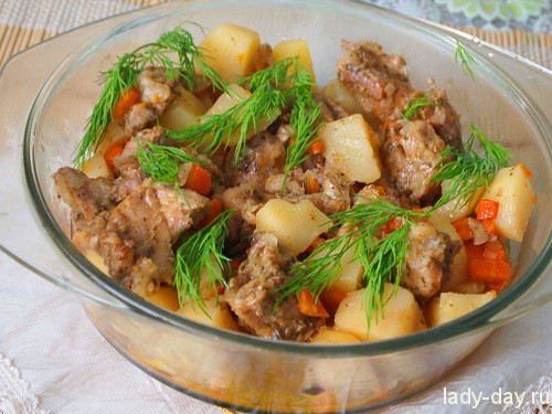 Рецепт жаркое со свининой по домашнему   Простые рецепты с ...