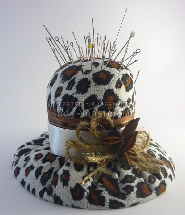 Шляпка - игольница, мастер - класс с фото, пошагово