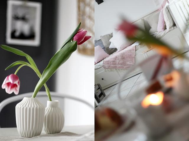 Deko Donnerstag! Heute mit einem vintage Küchentisch, der Kindheitserinnerungen weckt und stylischer Tischdeko! Collage Tisch und Küche