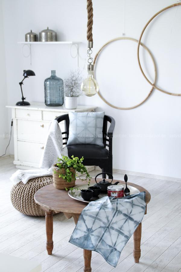 DIY Shibori Falt-Tutorial, Kissen und Geschirrtücher batiken,