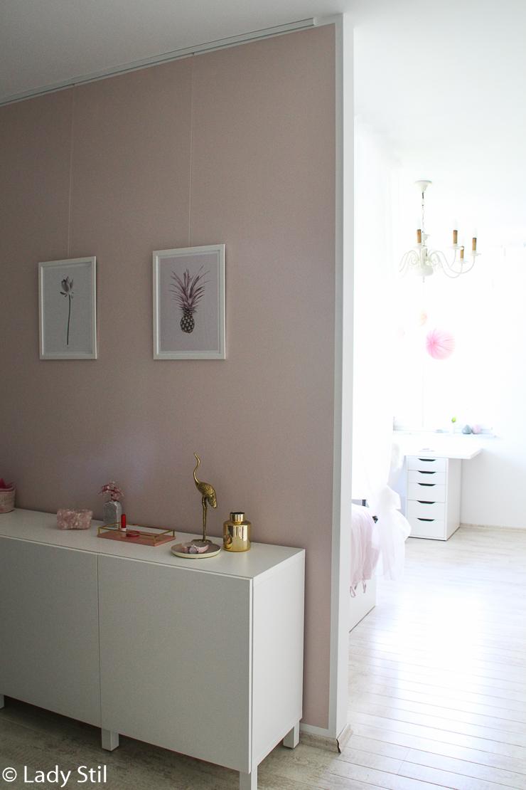 Rosa Wandfarbe im Kinderzimmer