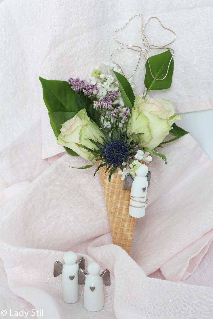 DIY Blumeneis, Glücksbringer aus Draht biegen, Schutzengel, kleiner ...
