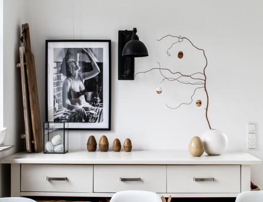 DIY Ostereier a la Karl schwarz weiß