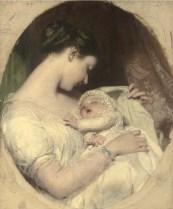Maternità  pittore britannico