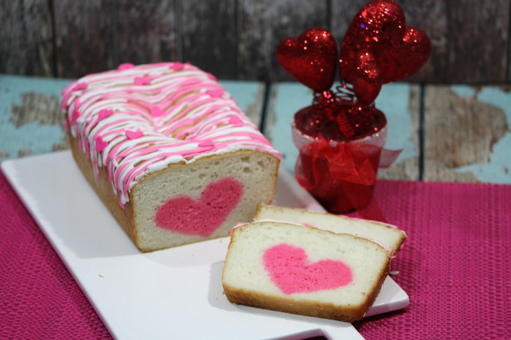 Vanilla Strawberry Loaf Heart Cake Recipe Perfect For