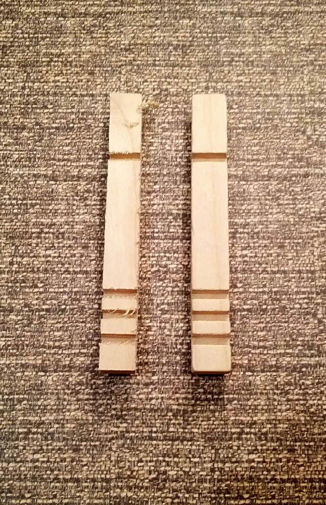 Clothespin half after and before tumbling