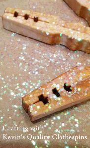 Clothespin Snowflake Craft close-up