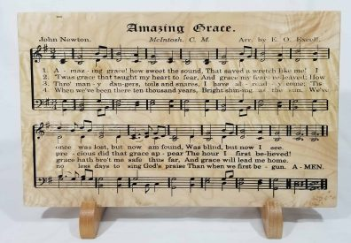 Amazing Grace Song Board, Wooden Wall Art. Perfect Gift for the Music Lover.