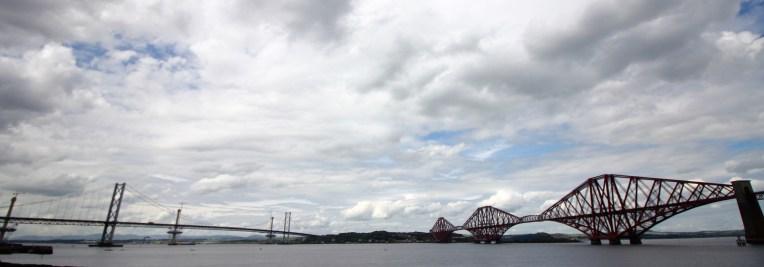 Forth Road Bridge and Forth Train Bridge