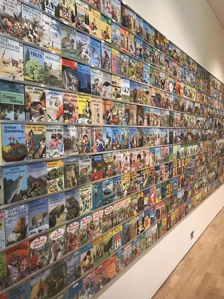 Wall of Ladybird books