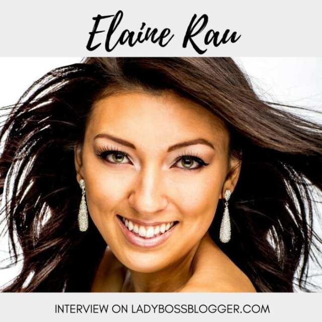 Female entrepreneur lady boss blogger Elaine Rau promoter