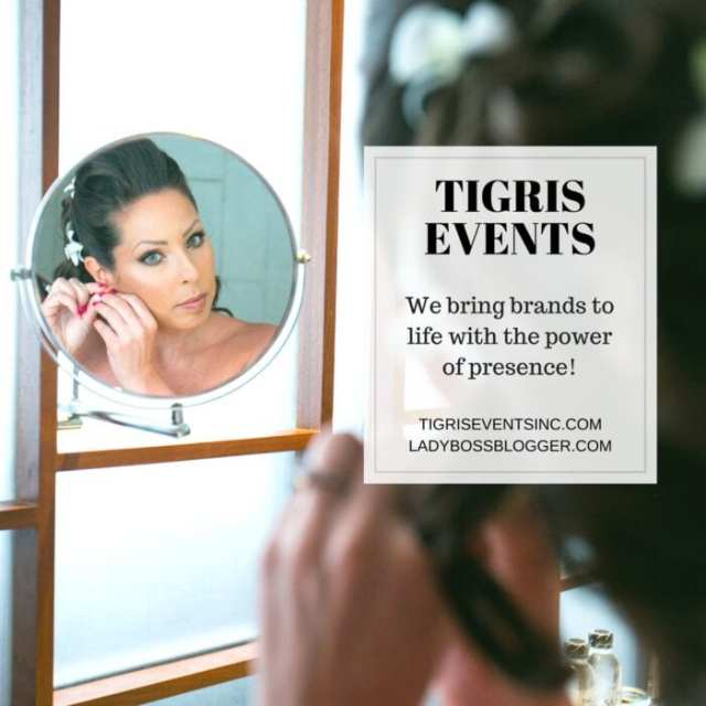 Female entrepreneur lady boss blogger Serena Holmes brand experience agency tigris events