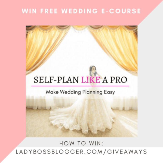 Giveaways on ladybossblogger WIN FREE WEDDING E-COURSE