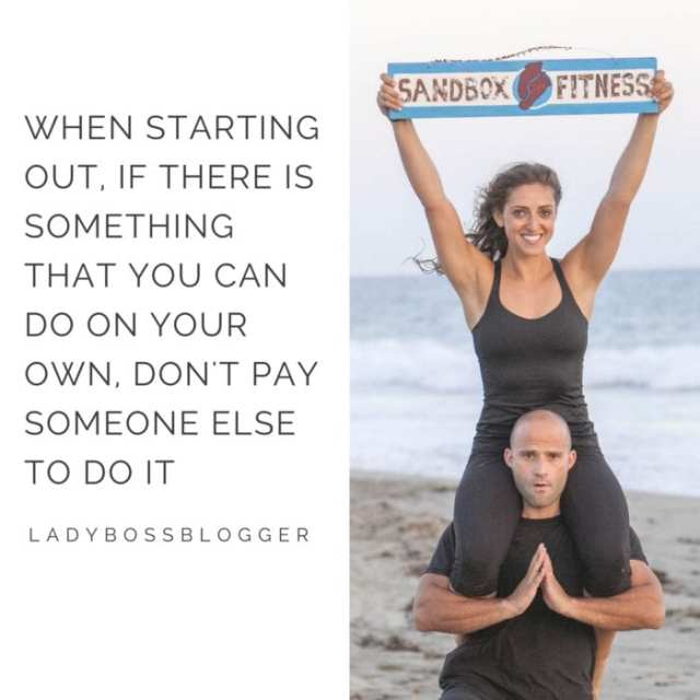 Female entrepreneur lady boss blogger Minna Herskowitz personal trainer