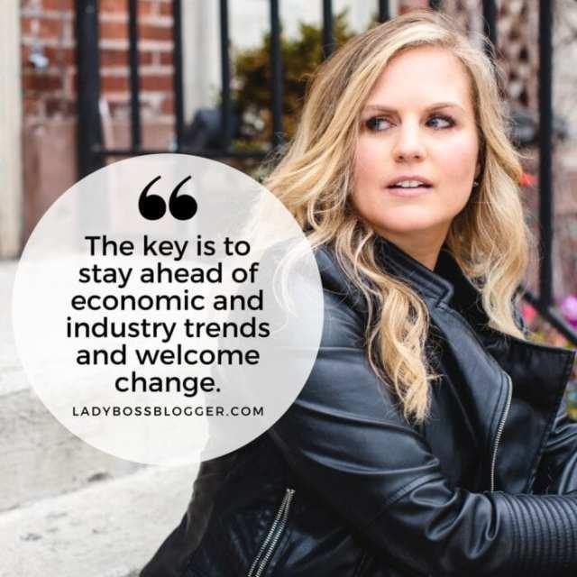 Female entrepreneur lady boss blogger Christy Bareijsza