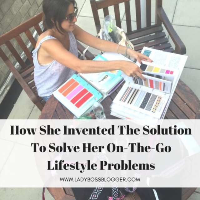 Female entrepreneur ladybossblogger Hannah Fastov fashionable and functional bag