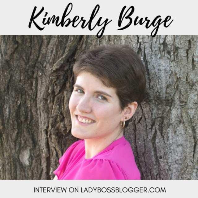 Female entrepreneur lady boss blogger Kimberly Burge graphic designer