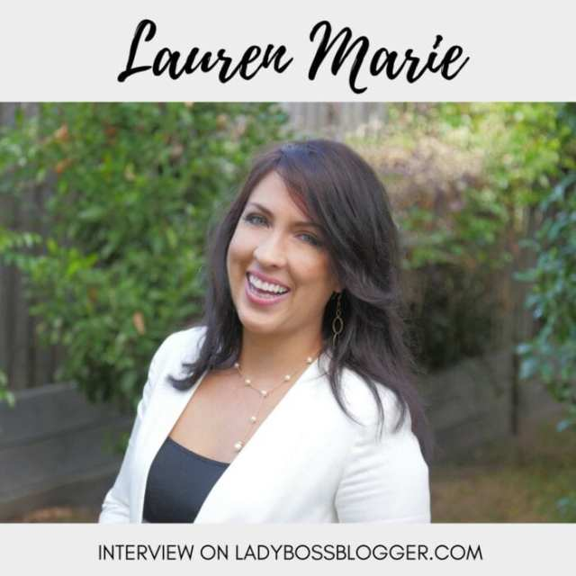 Female entrepreneur lady boss blogger Lauren Marie educator speaker