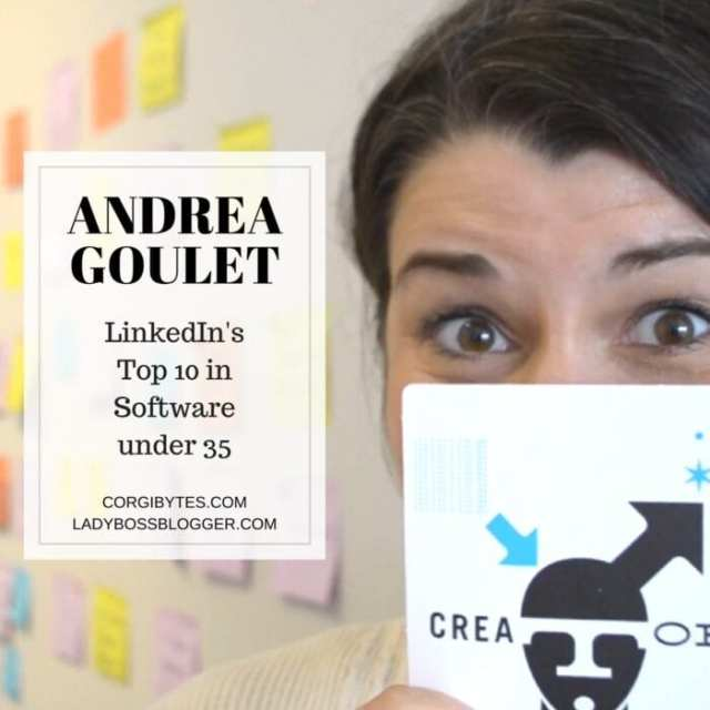 Female entrepreneur lady boss blogger Andrea Goulet software remodeler women in tech