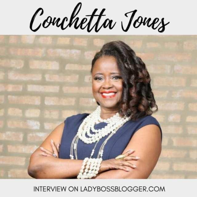 Female entrepreneur lady boss blogger Conchetta Jones life coach